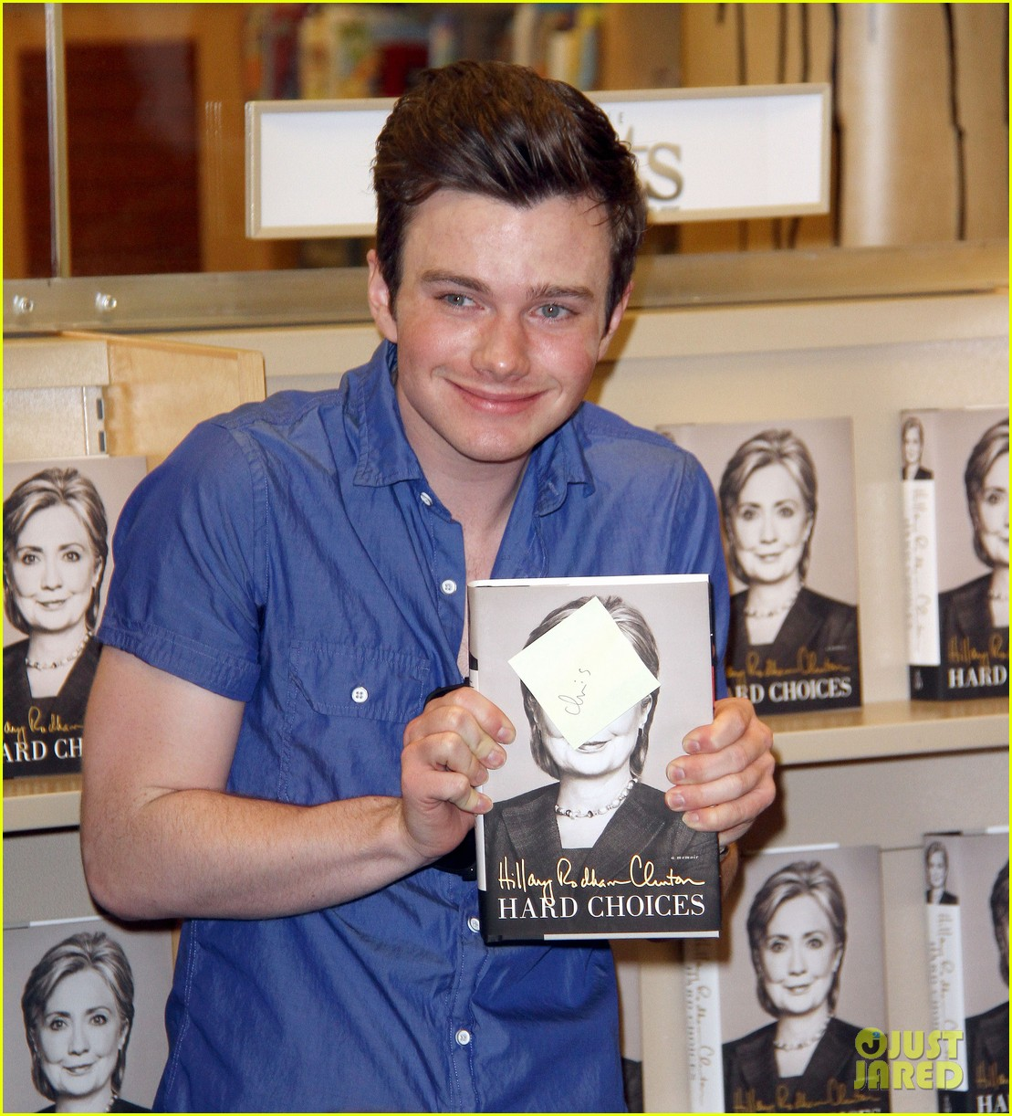 chris colfer hilary clinton book signing 053139261