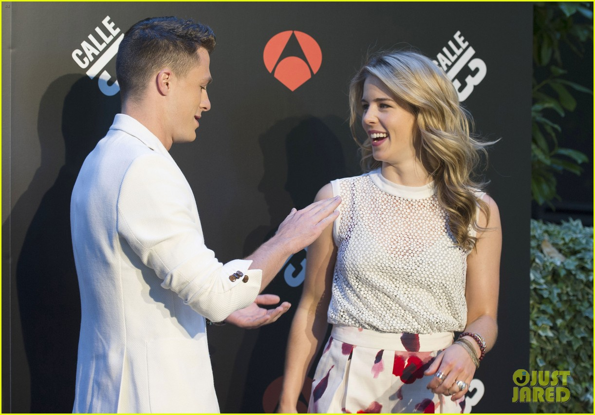 colton haynes emily bett rickards arrow madrid 103131721