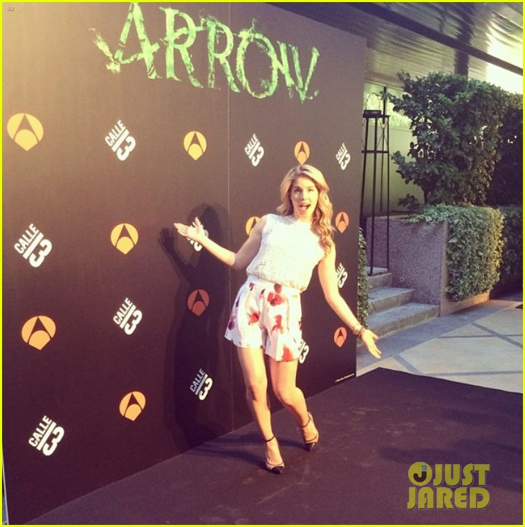 colton haynes emily bett rickards arrow madrid 263131737