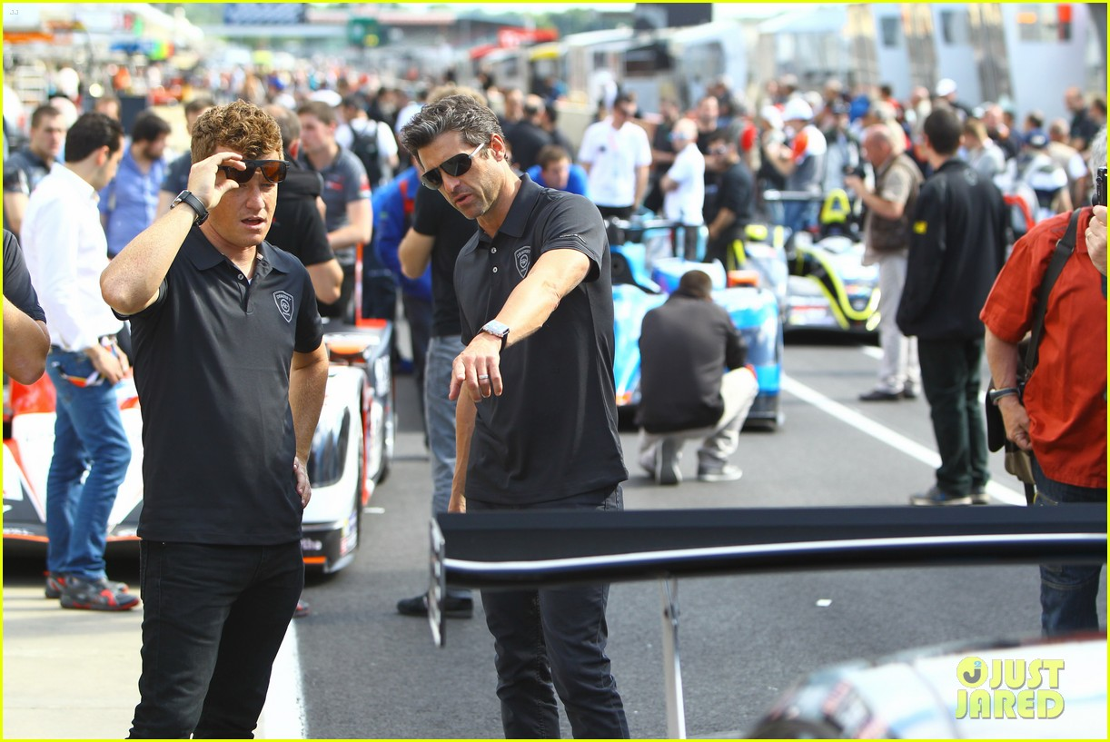 patrick dempsey gets behind the drivers wheel at le mans 013127314