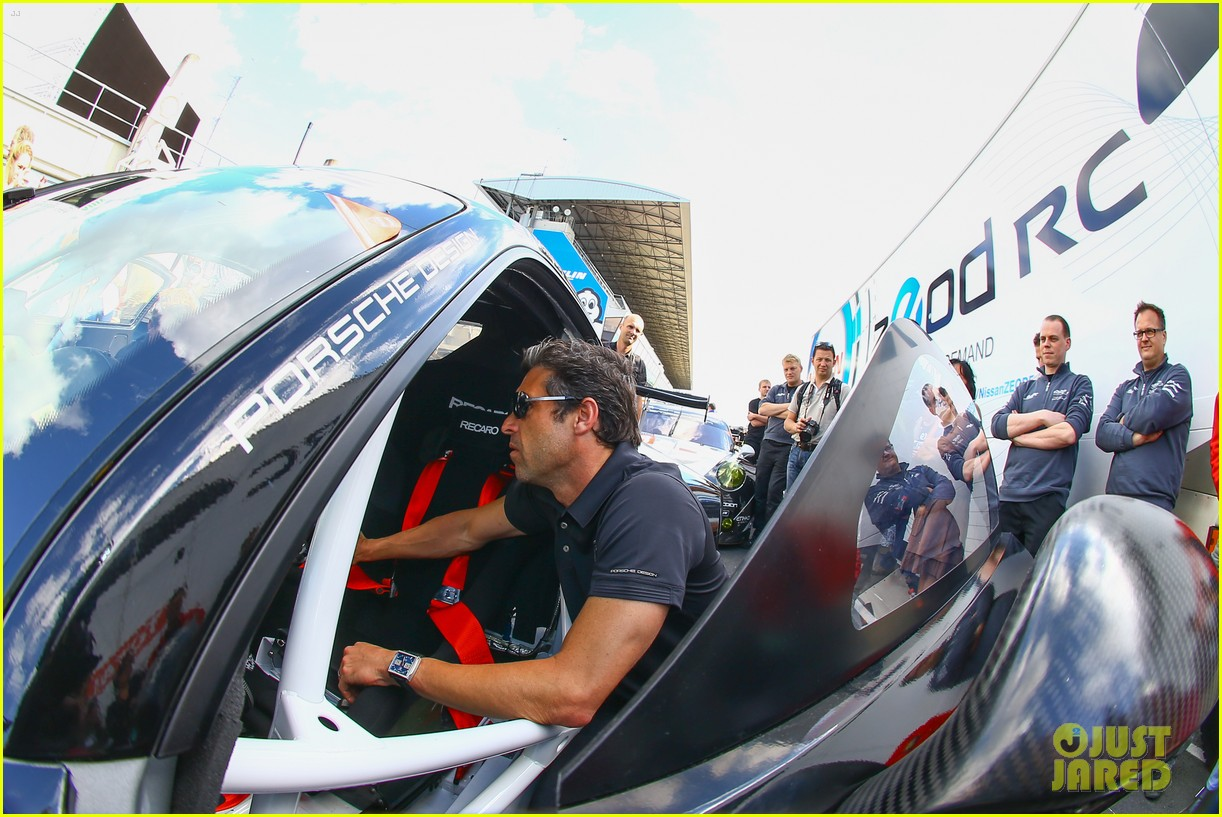 patrick dempsey gets behind the drivers wheel at le mans 083127321
