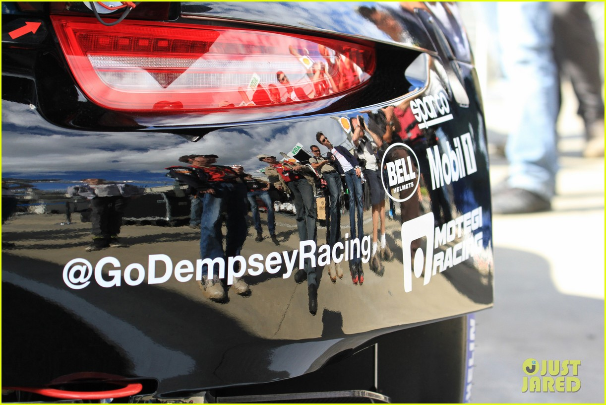 patrick dempsey gets behind the drivers wheel at le mans 103127323
