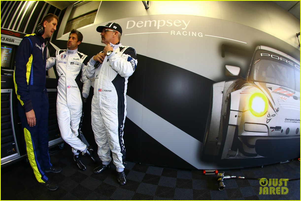 patrick dempsey gets behind the drivers wheel at le mans 123127325