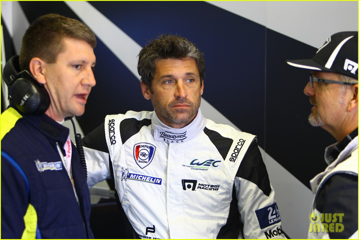 patrick dempsey gets behind the drivers wheel at le mans 14