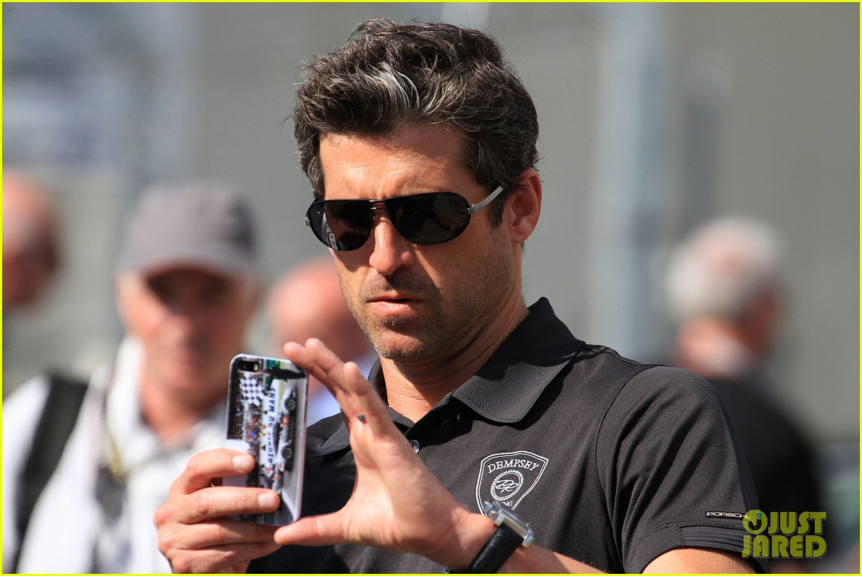 patrick dempsey gets behind the drivers wheel at le mans 153127328