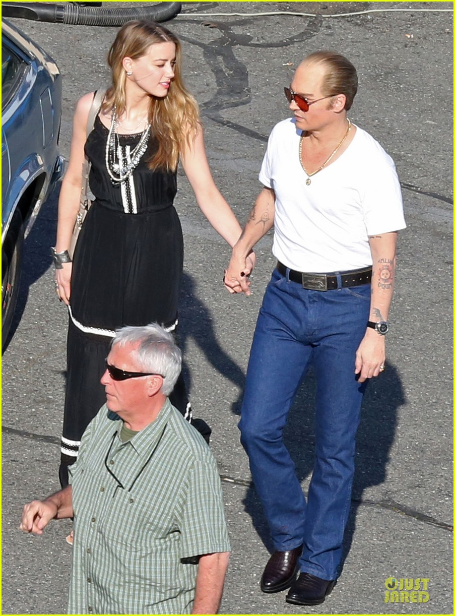 johnny depp amber heard kiss on black mass set 033126989