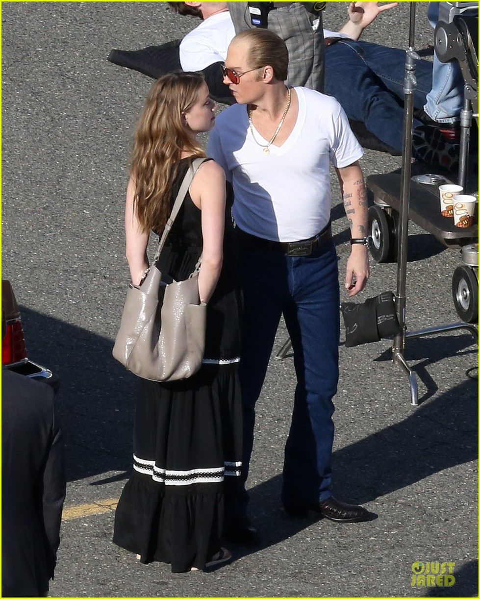 johnny depp amber heard kiss on black mass set 073126993