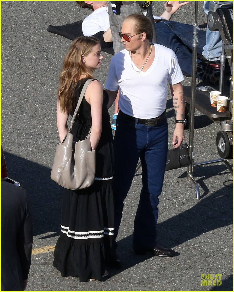johnny depp amber heard kiss on black mass set 083126994