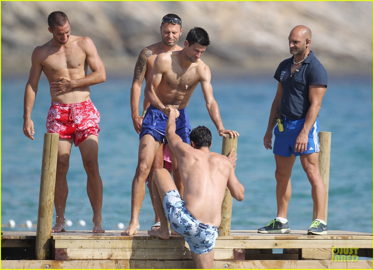 novak djovokic shirtless vacation after french open 053132167