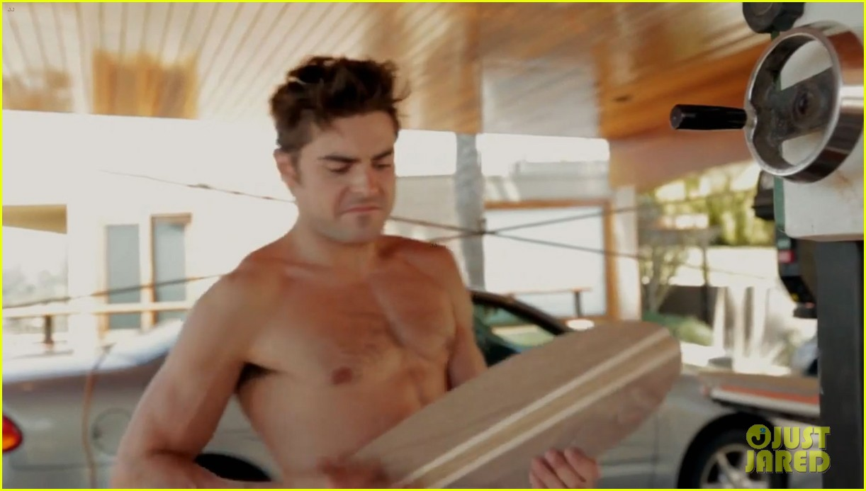 zac efron shirtless making skateboards 10