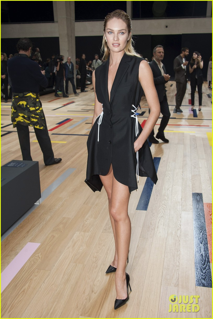 ansel elgort candice swanepoel dior homme show 053145774