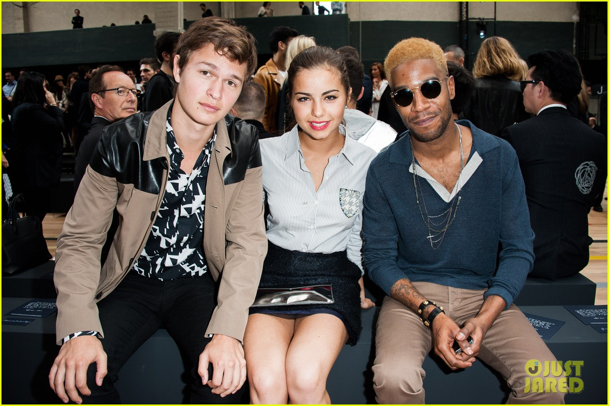 ansel elgort candice swanepoel dior homme show 063145775
