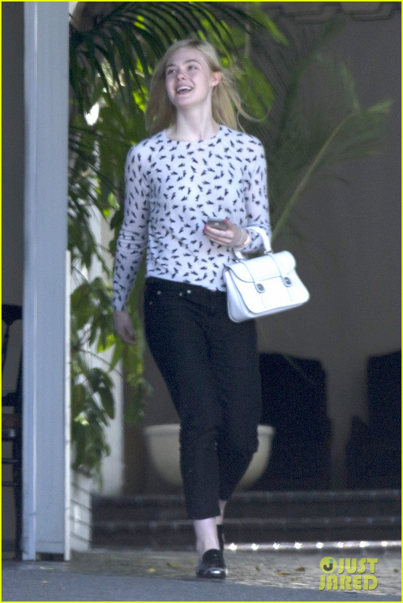 elle fanning chateau marmont two days 073136889