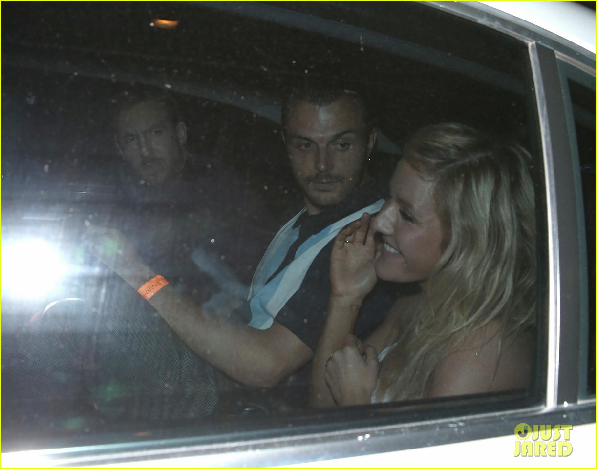 ellie goulding calvin harris share car london night out 043141171