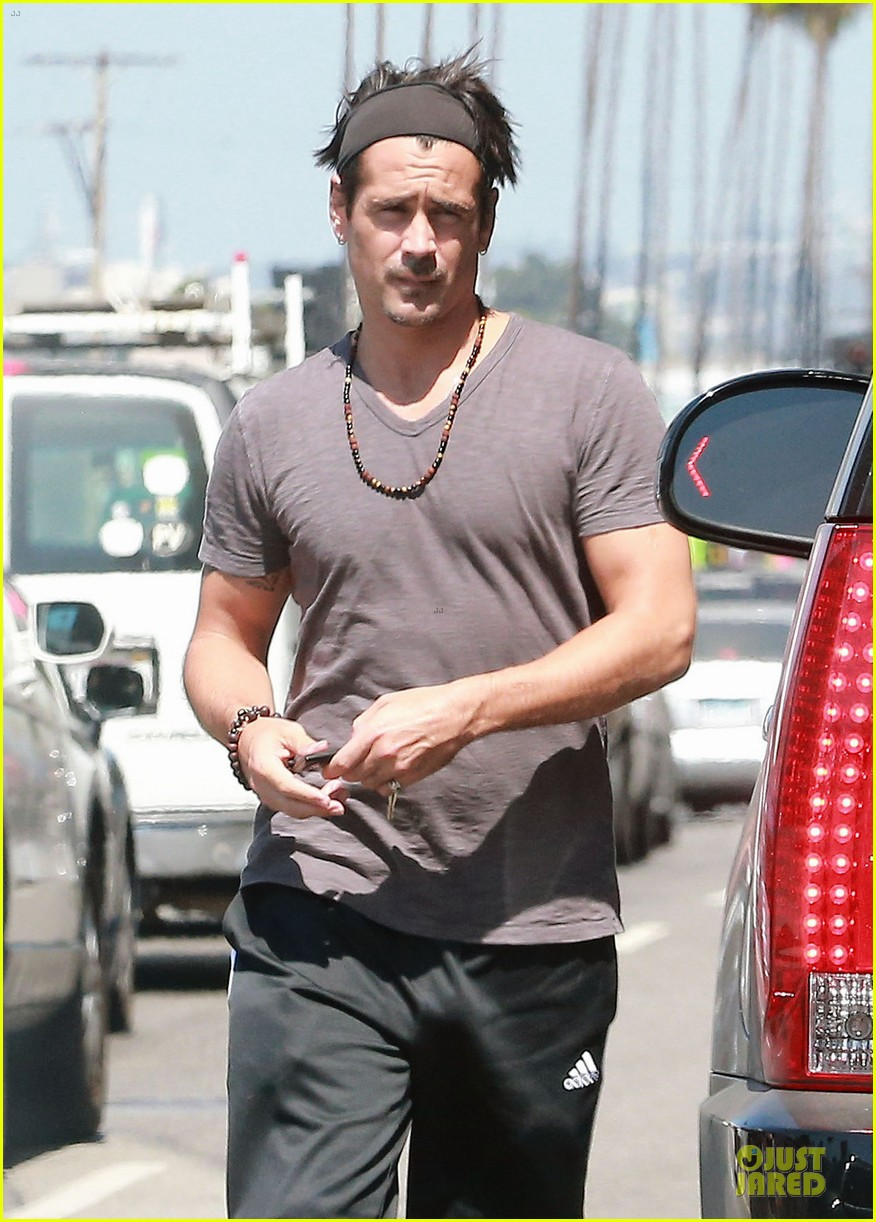 colin farrell shirtless after west hollywood lunch 233145102