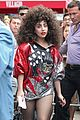 lady gaga debuts huge curly teased hairdo thick eyebrows in nyc 11