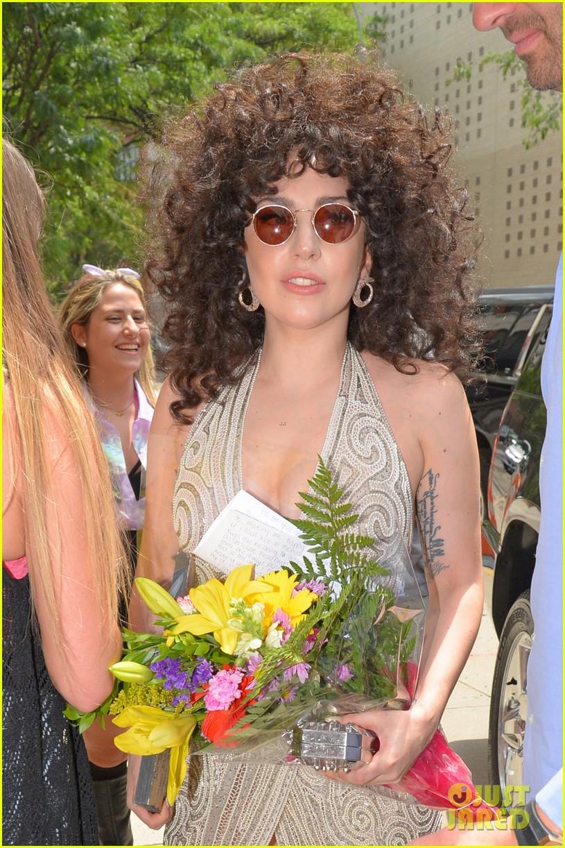 lady gaga curly hair tony bennett rehearsals 053141273