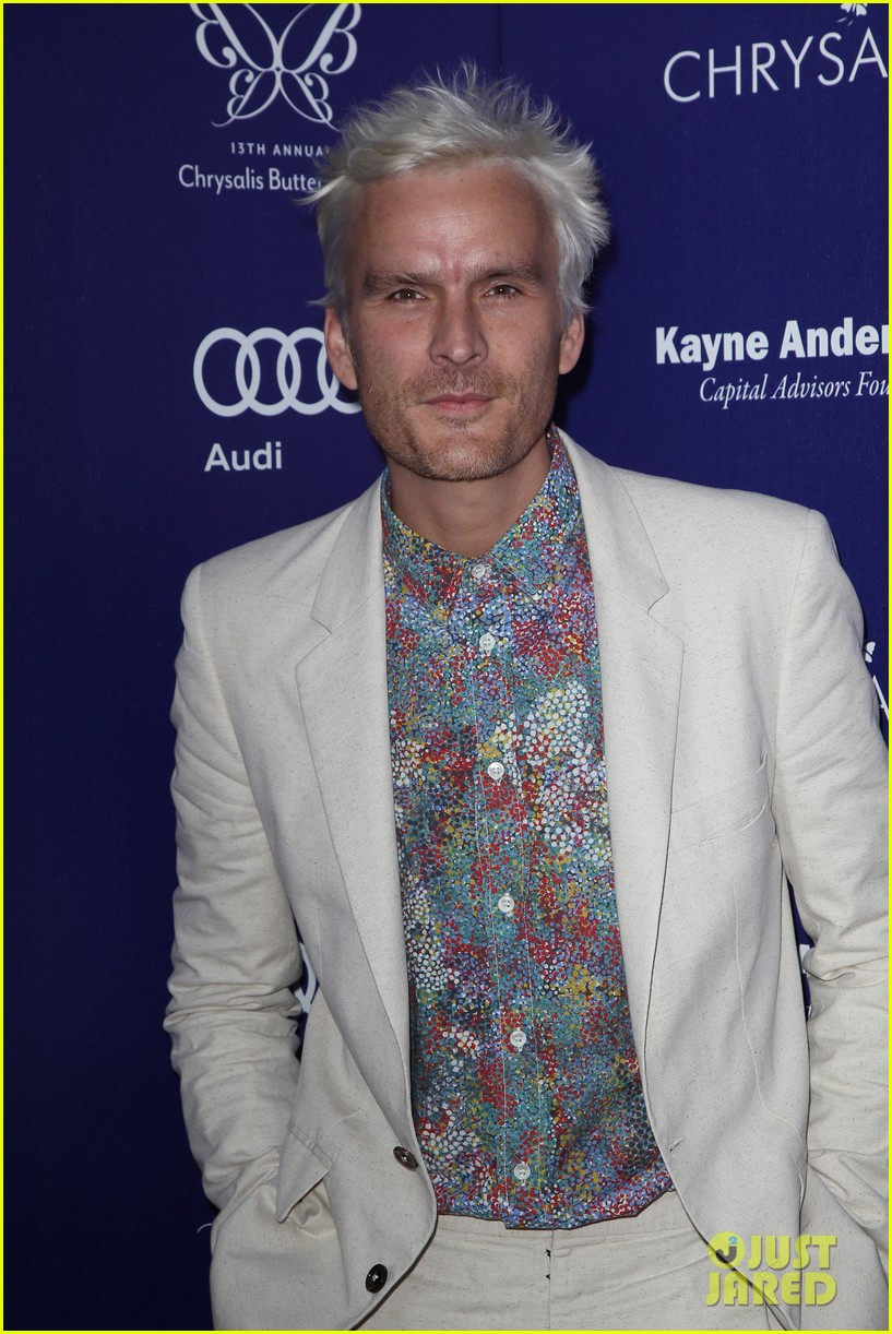 balthazar getty debuts white hair chrysalis butterfly ball 143130819