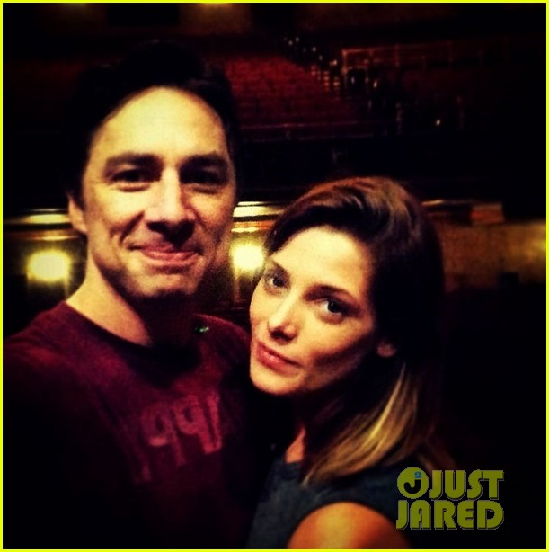 ashley greene supports her buddy zach braff on broadway 02