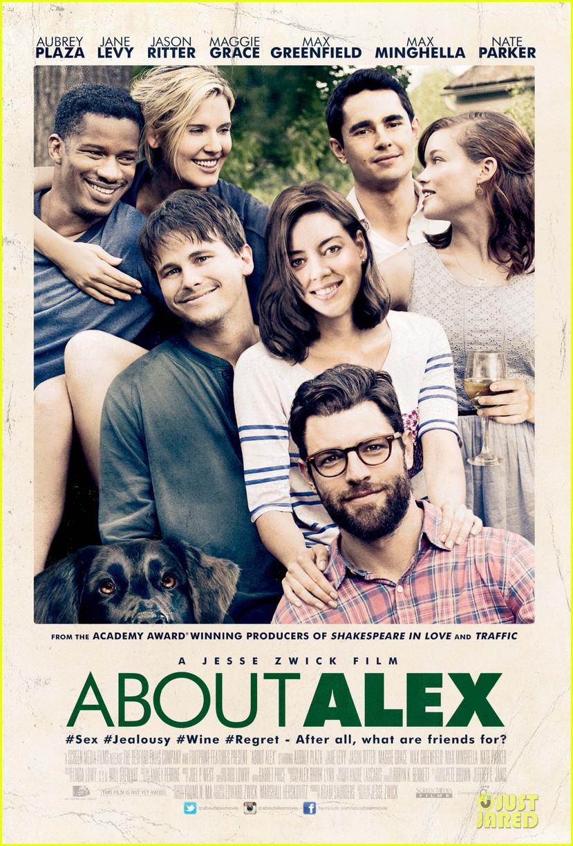 max greenfield aubrey plaza about alex gets poster trailer 013140685