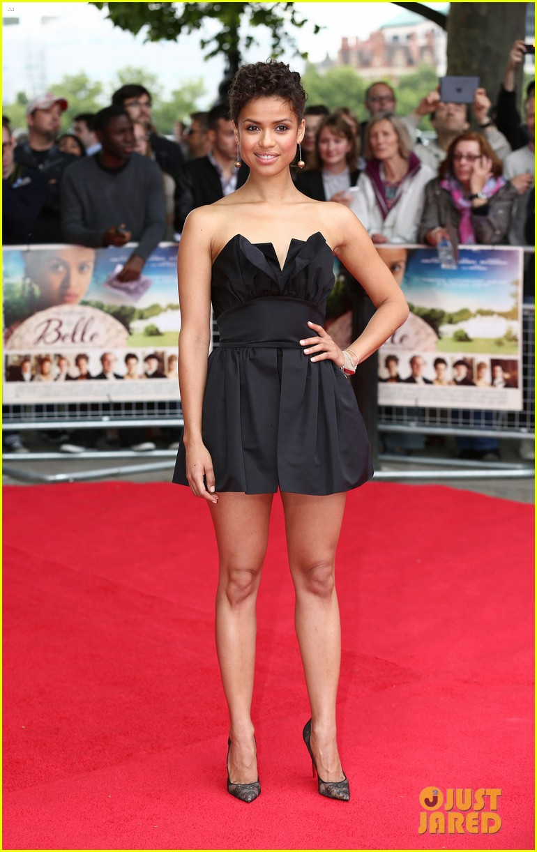 gugu mbatha raw beautiful belle of the ball in london 05