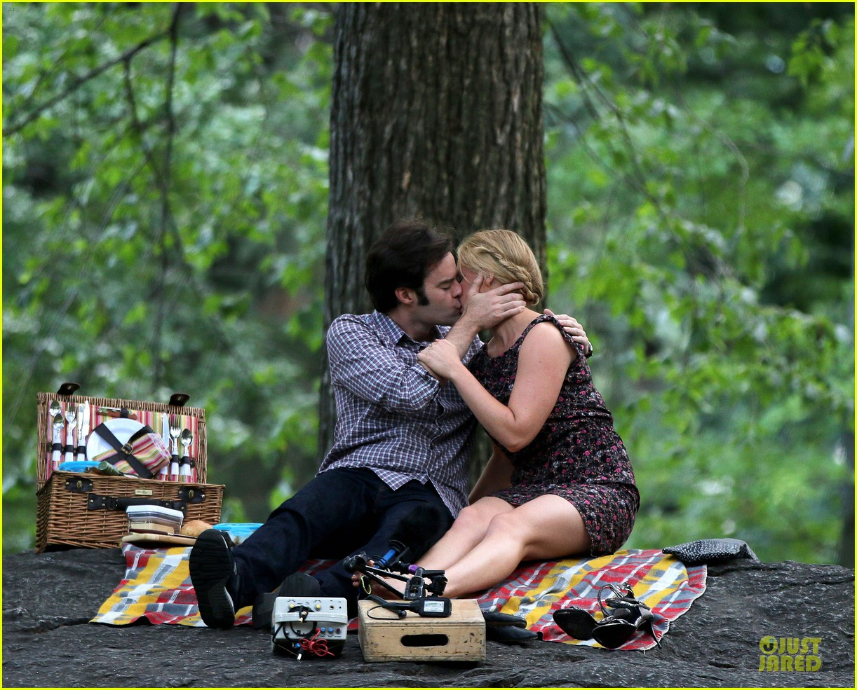 bill hader amy schumer kissing in central park 103145172