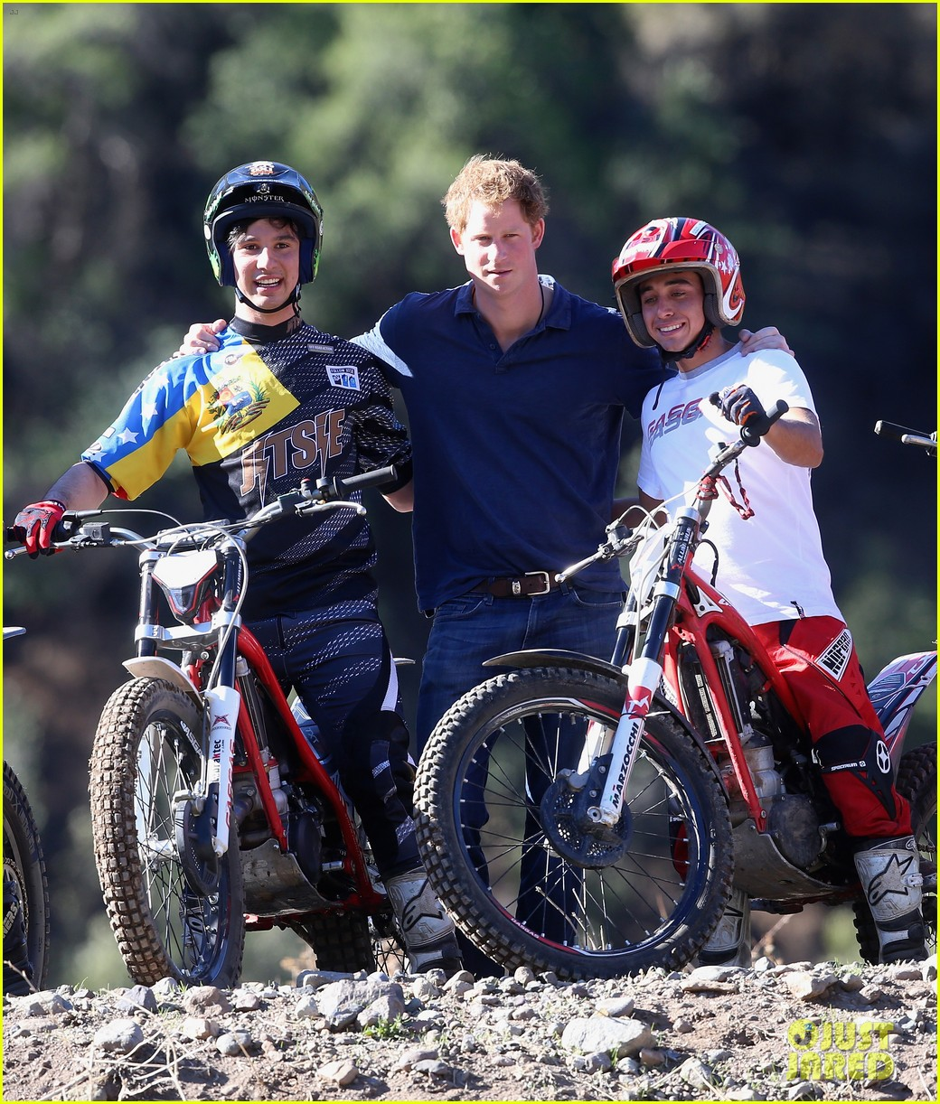 prince harry busts a move children chile visit 053146203