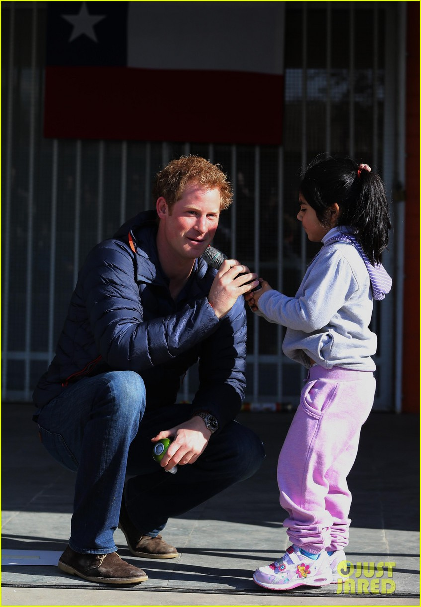 prince harry busts a move children chile visit 153146213