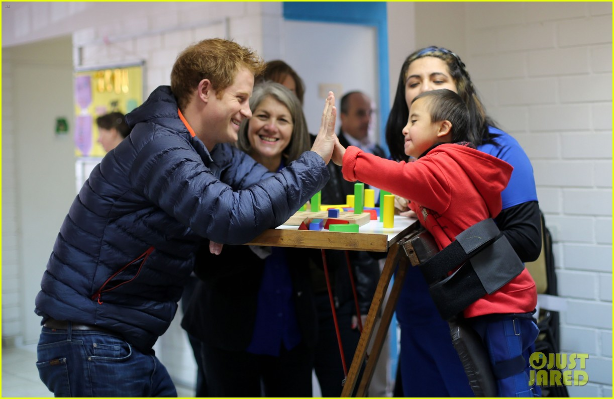 prince harry busts a move children chile visit 183146216