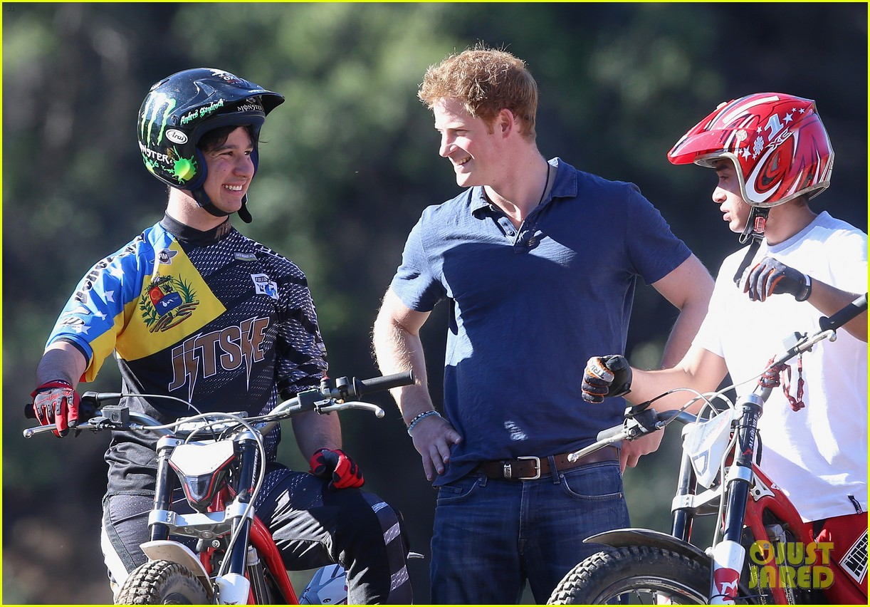 prince harry busts a move children chile visit 233146221