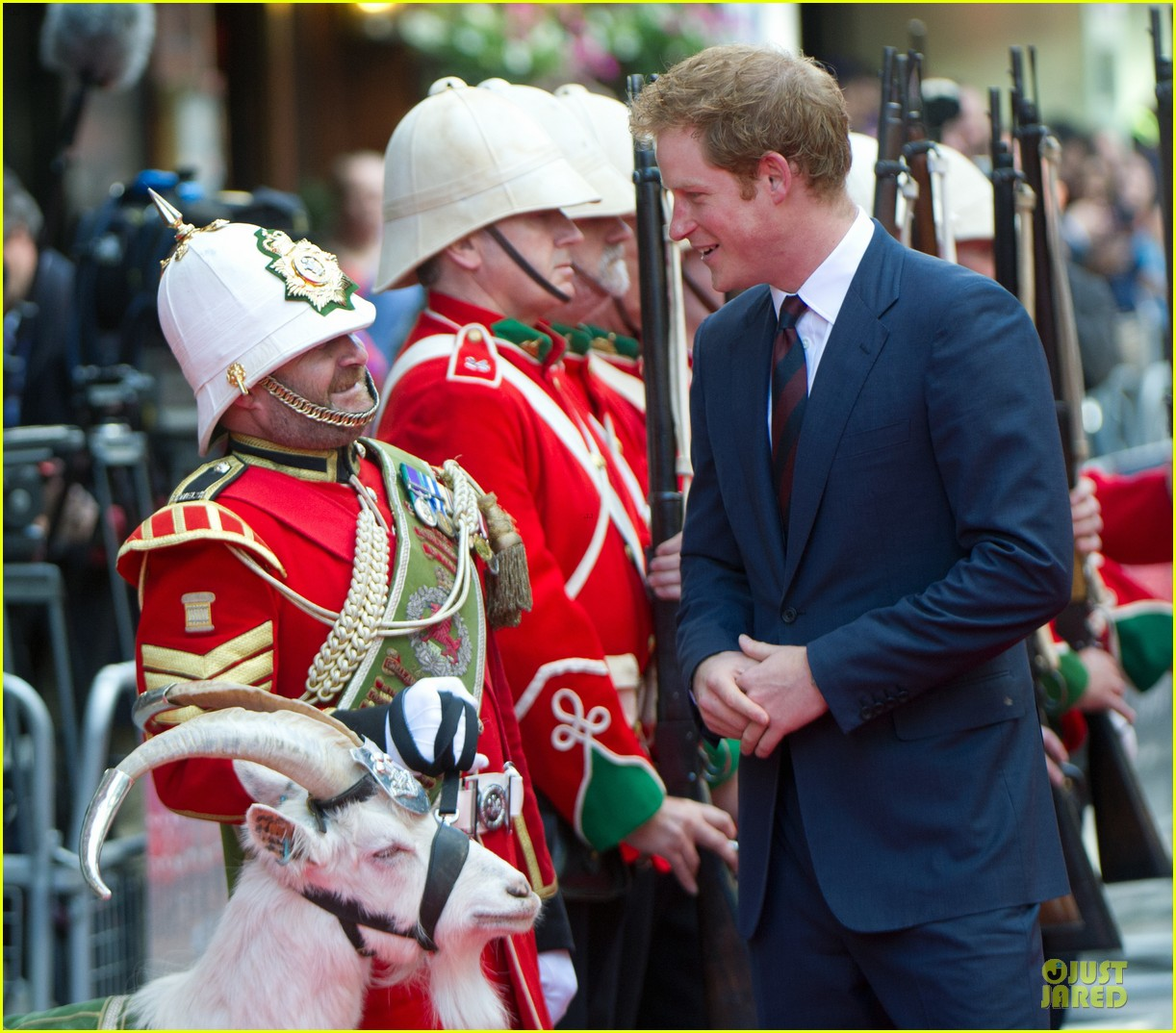 prince harry interaction with goat melt your heart 043132677