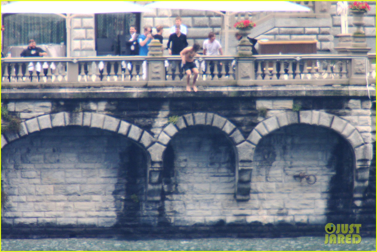 harry styles jumps into lake como 183146814