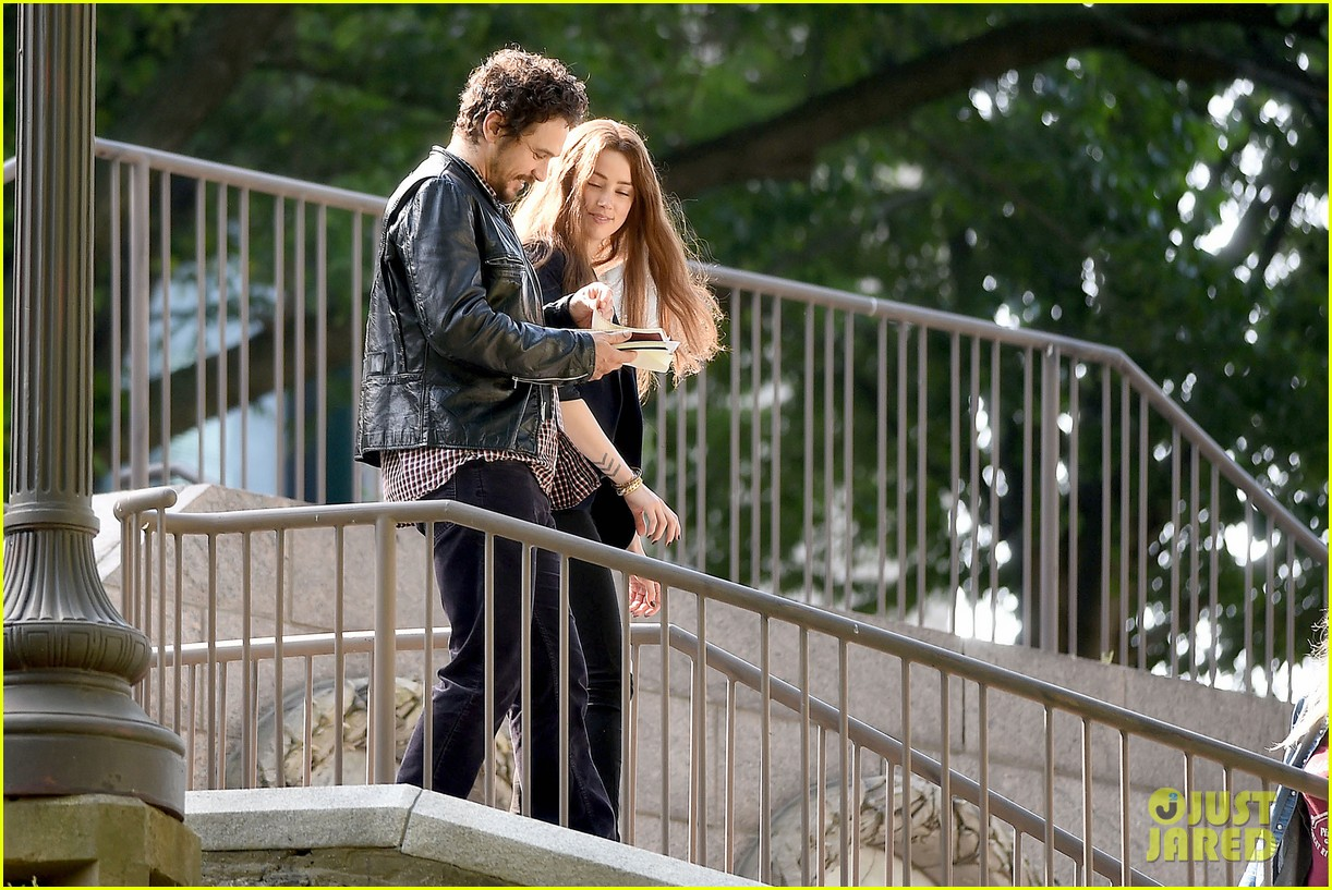 james franco wraps his arms around amber heard for motorcycle ride 043128094