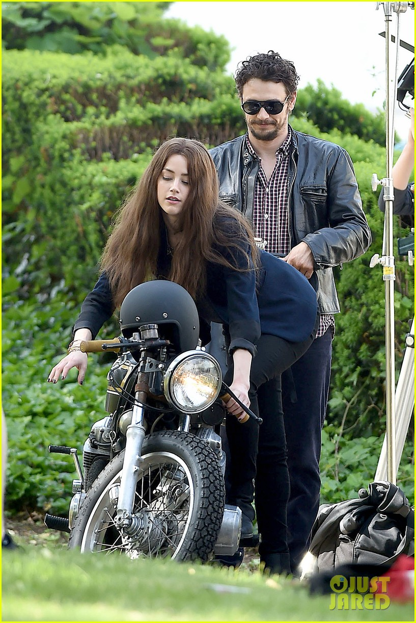 james franco wraps his arms around amber heard for motorcycle ride 083128098