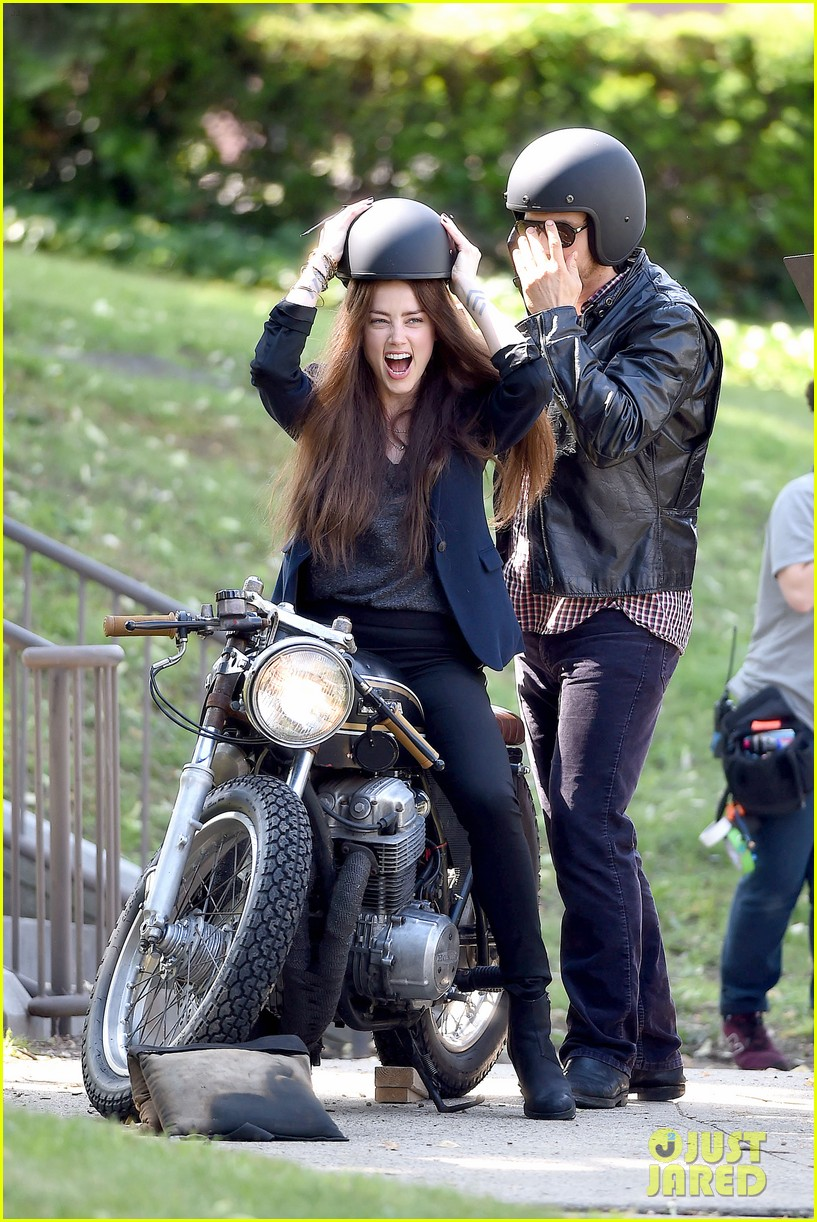 james franco wraps his arms around amber heard for motorcycle ride 113128101
