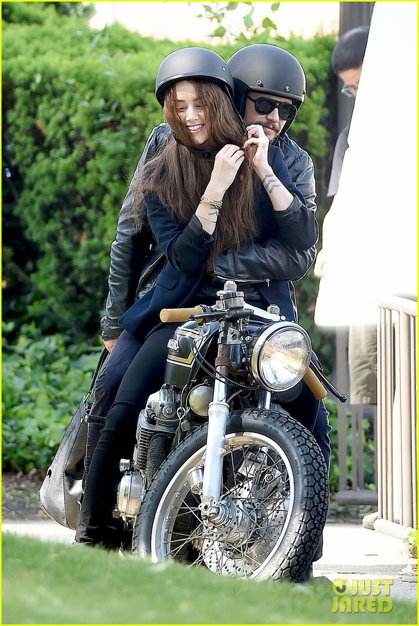 james franco wraps his arms around amber heard for motorcycle ride 123128102