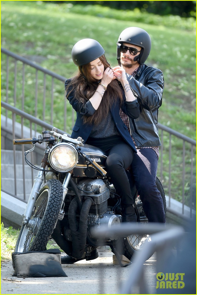 james franco wraps his arms around amber heard for motorcycle ride 133128103