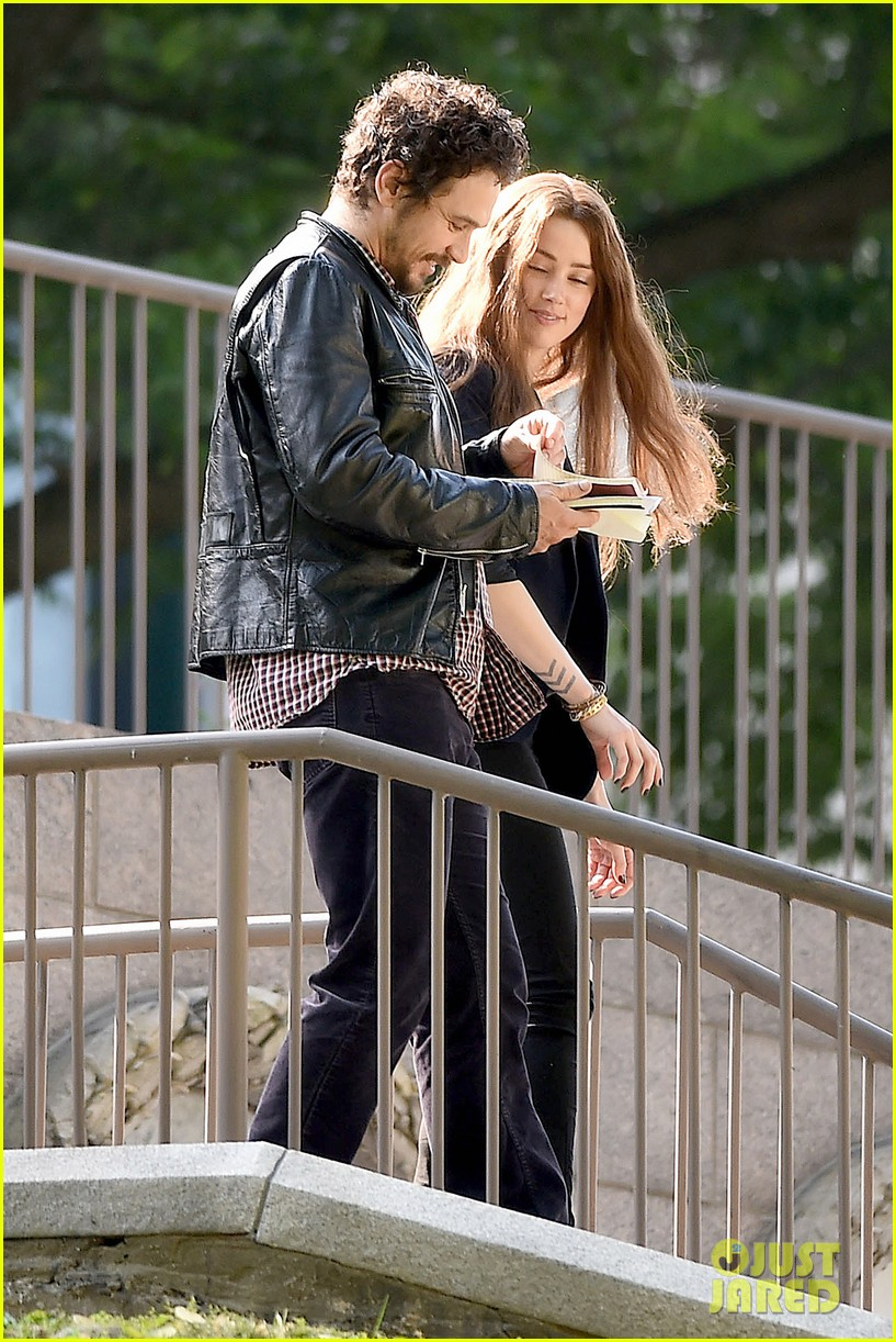 james franco wraps his arms around amber heard for motorcycle ride 15