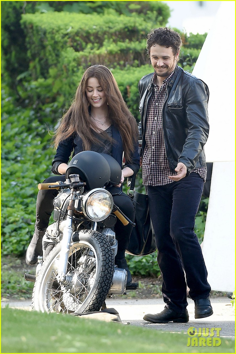 james franco wraps his arms around amber heard for motorcycle ride 203128110
