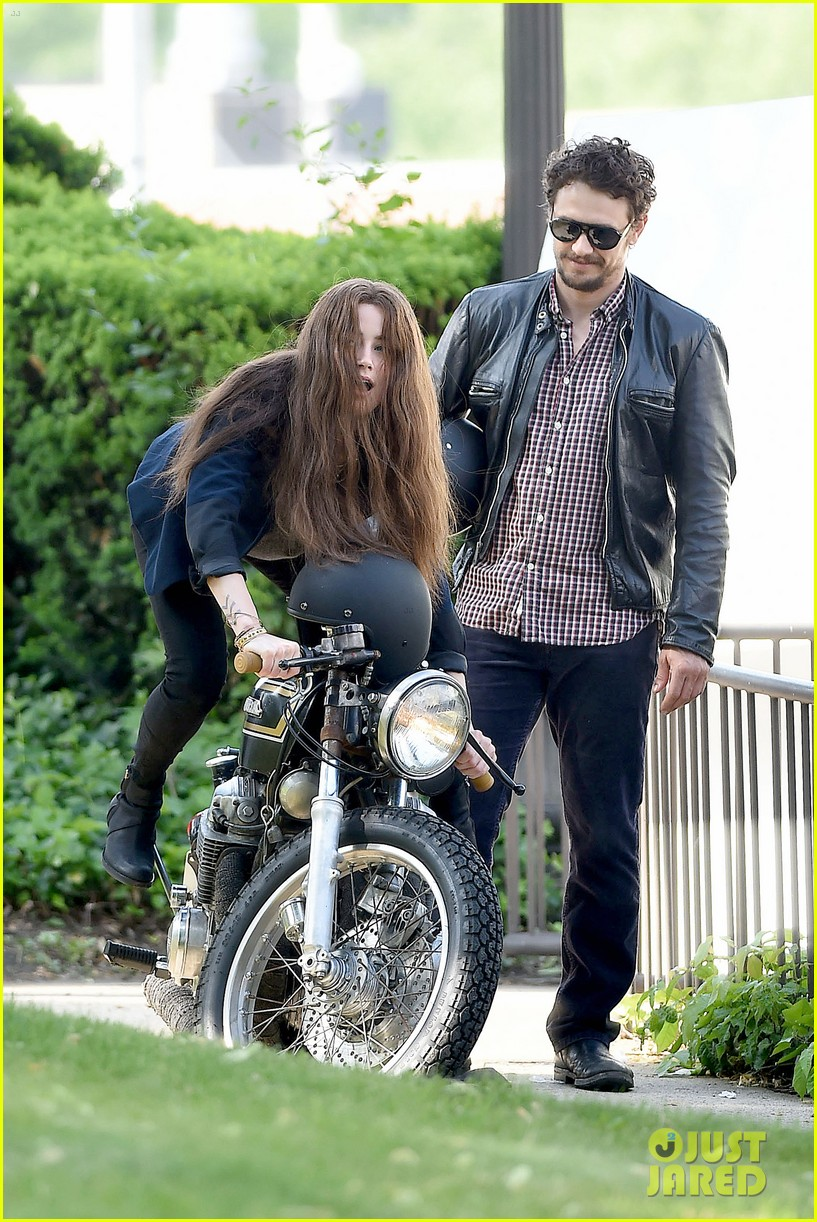 james franco wraps his arms around amber heard for motorcycle ride 21