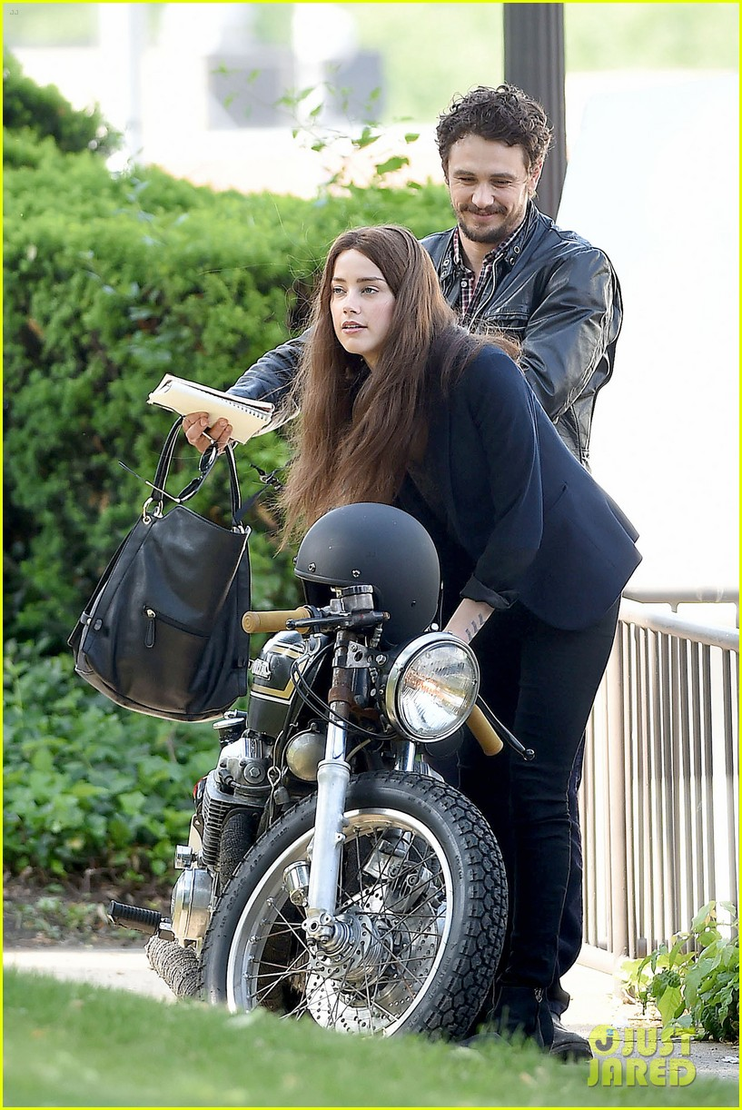 james franco wraps his arms around amber heard for motorcycle ride 223128112