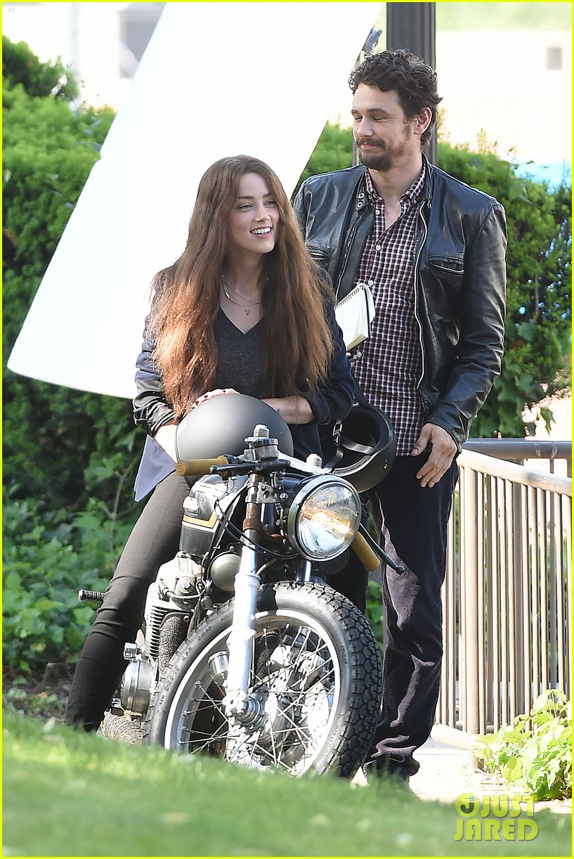james franco wraps his arms around amber heard for motorcycle ride 25