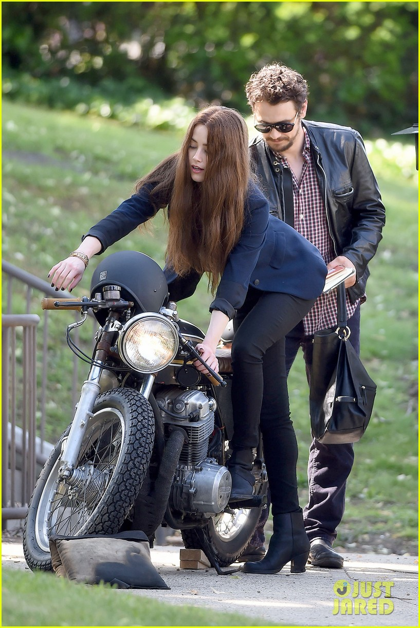 james franco wraps his arms around amber heard for motorcycle ride 263128116