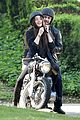 james franco wraps his arms around amber heard for motorcycle ride 01