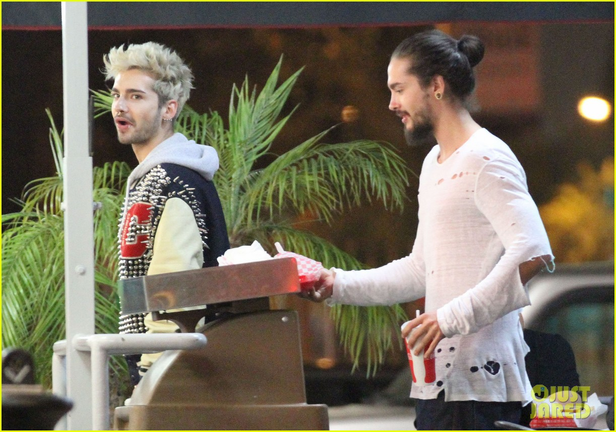 tokio hotel tom bill kaulitz grab astro burger together 163136191
