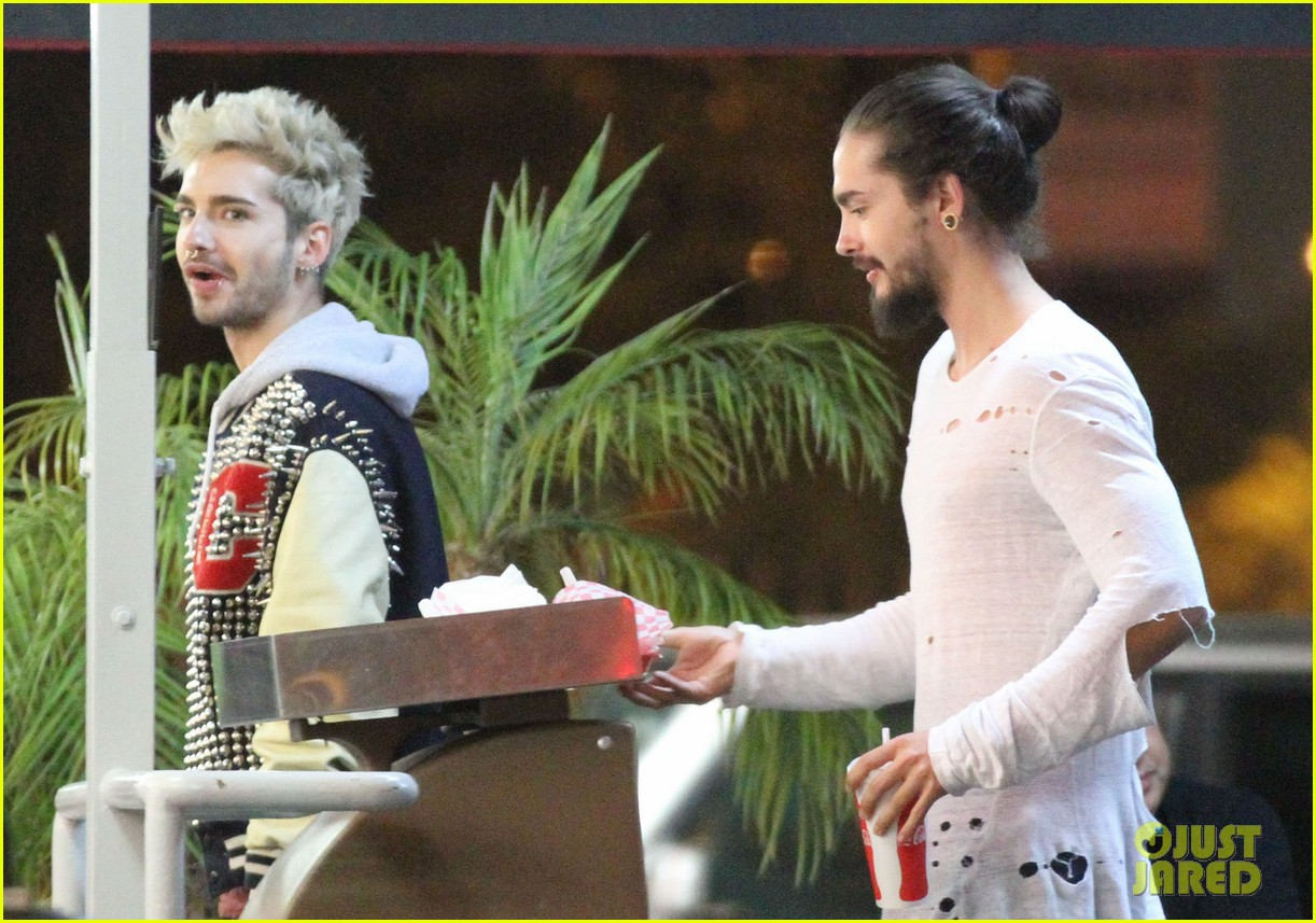 tokio hotel tom bill kaulitz grab astro burger together 173136192