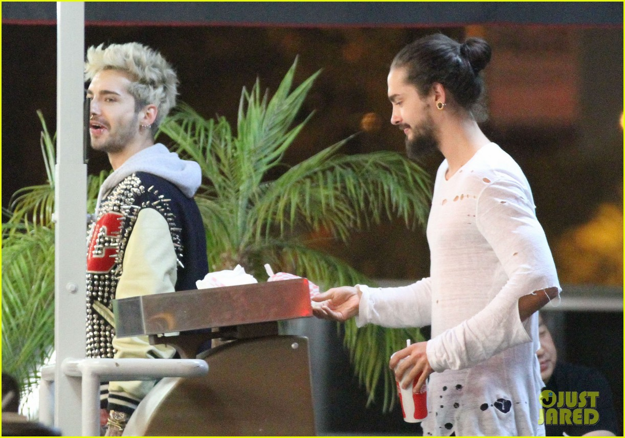 tokio hotel tom bill kaulitz grab astro burger together 183136193