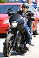 charlie hunnam arrives to sons of anarchy set on motorcycle 01