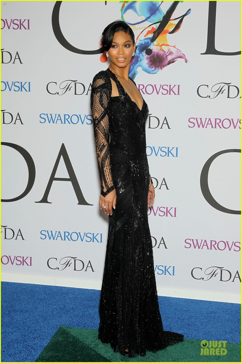 chanel iman joan smalls cfda awards 2014 083127041