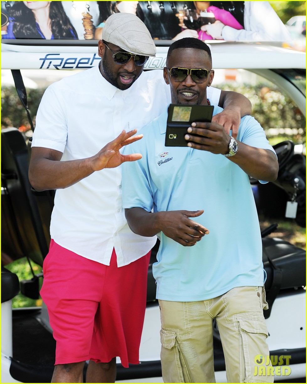 jamie fox dwyane wade celebrity golf tournament miami 18